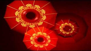 Red revolving Chinese lanterns wish you good luck patterns photography video background