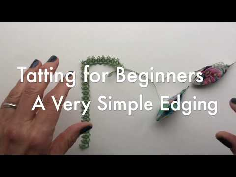 Tatting for Beginners - A Very Simple Edging