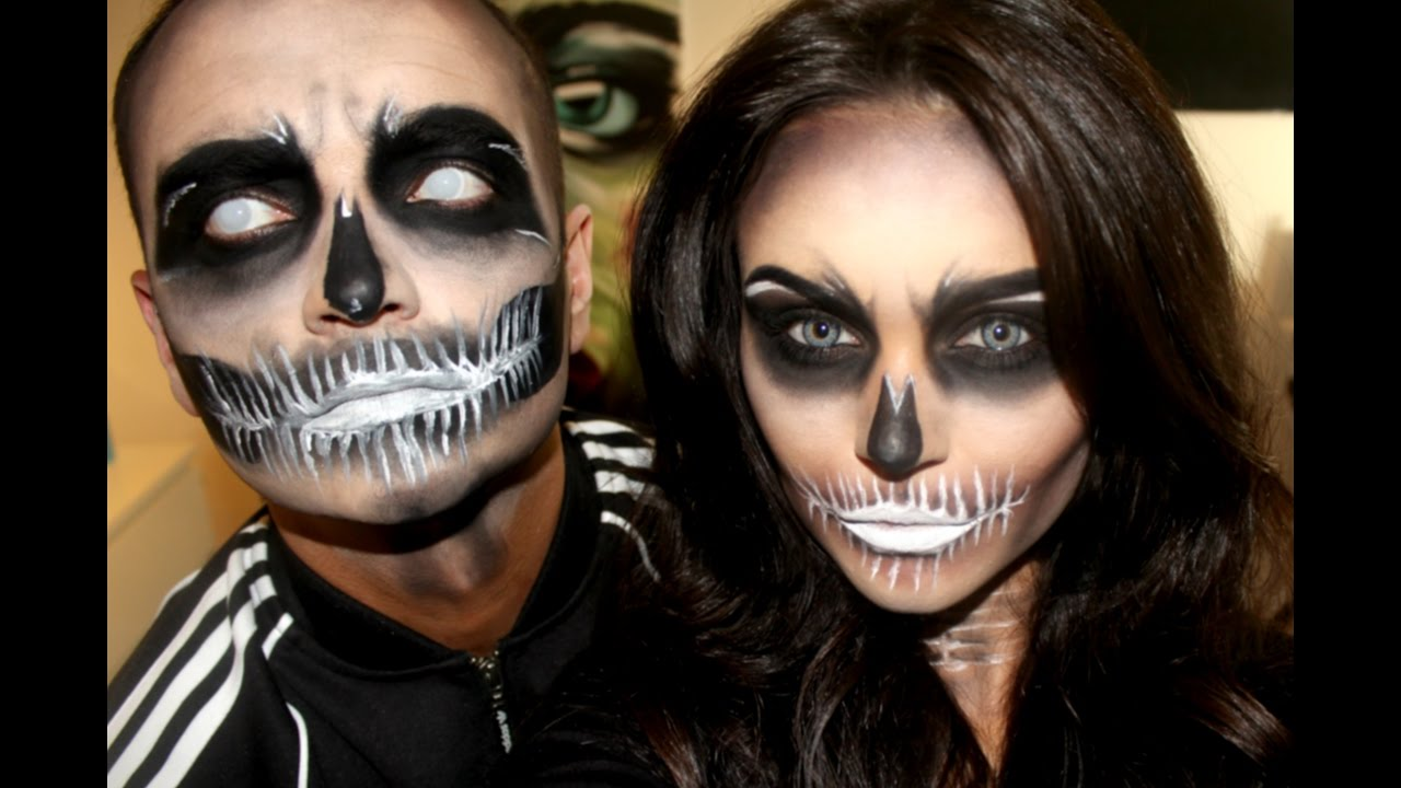 Halloween Make Up Skelet.Skeleton Couple Halloween Makeup Rebekah Eller