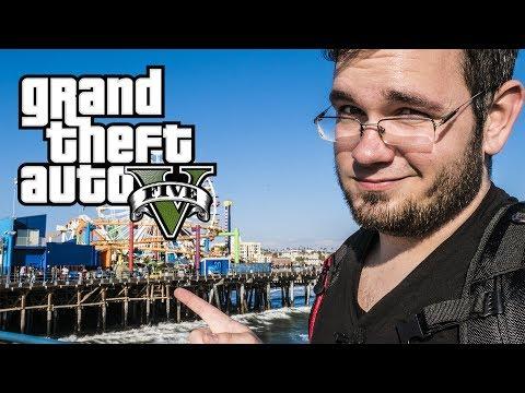► GTA V in REAL LIFE - Santa Monica