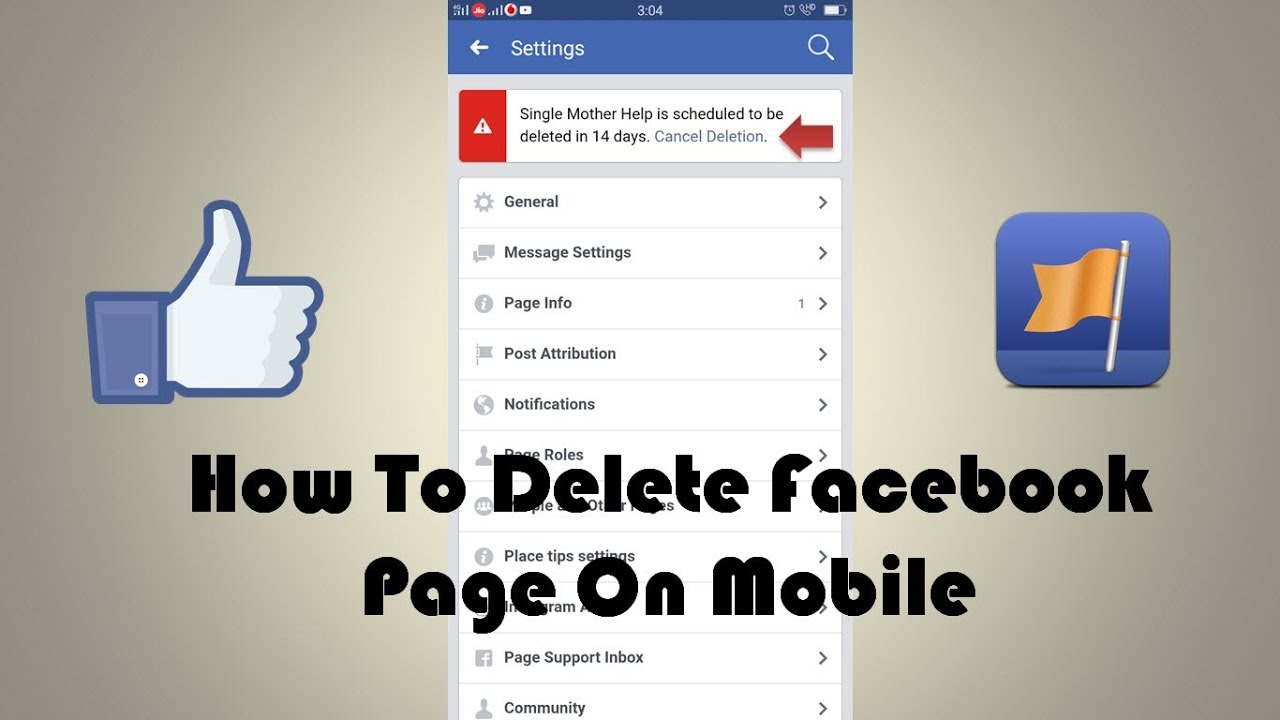 How To Delete Facebook Page 2019 On Mobile | Latest Updates