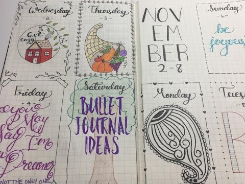 BULLET JOURNAL IDEAS AND FLIP THROUGH | AUGUST - NOVEMBER
