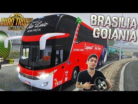 Brasilia x Goiânia na chuva Viajando Pelo Brasil Ônibus Expresso São Luiz Euro Truck2 com G27!