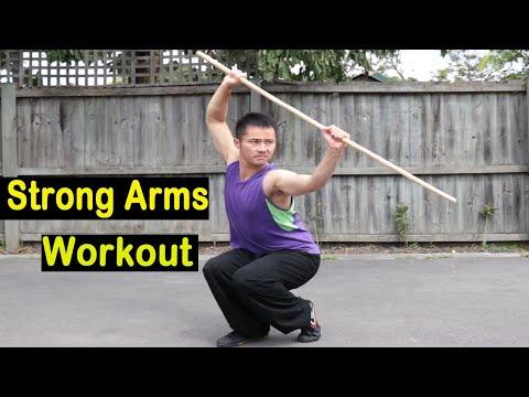 Shaolin Kung Fu Wushu Basic Bo Staff Training Session 4