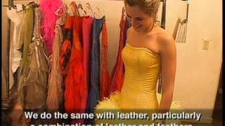 Ostrich leather dresses
