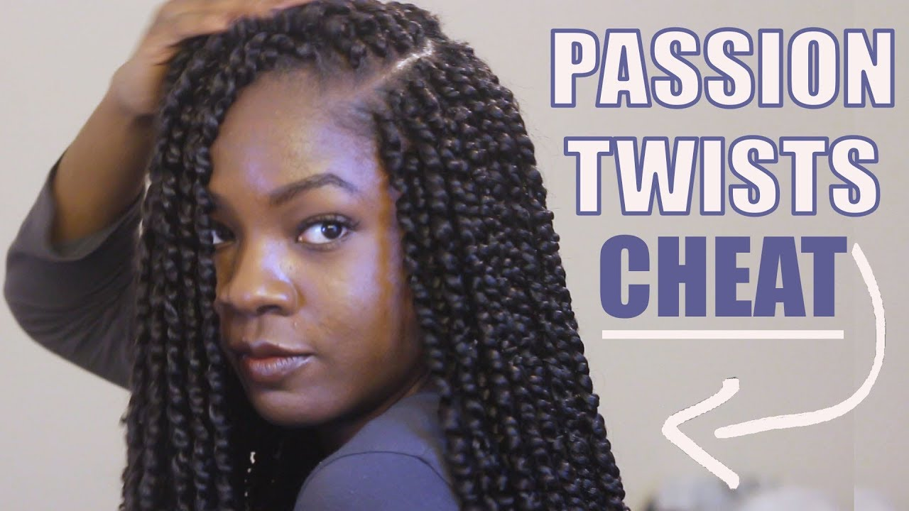 How To Crochet Premade Passion Twist Onto Cornrows Youtube