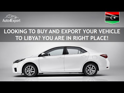 Shipping to Libya from USA - Auto4Export