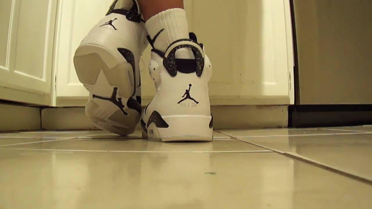 1723fa556aac Nike Air Jordan VI (6) Retro Oreos on feet - YouTube