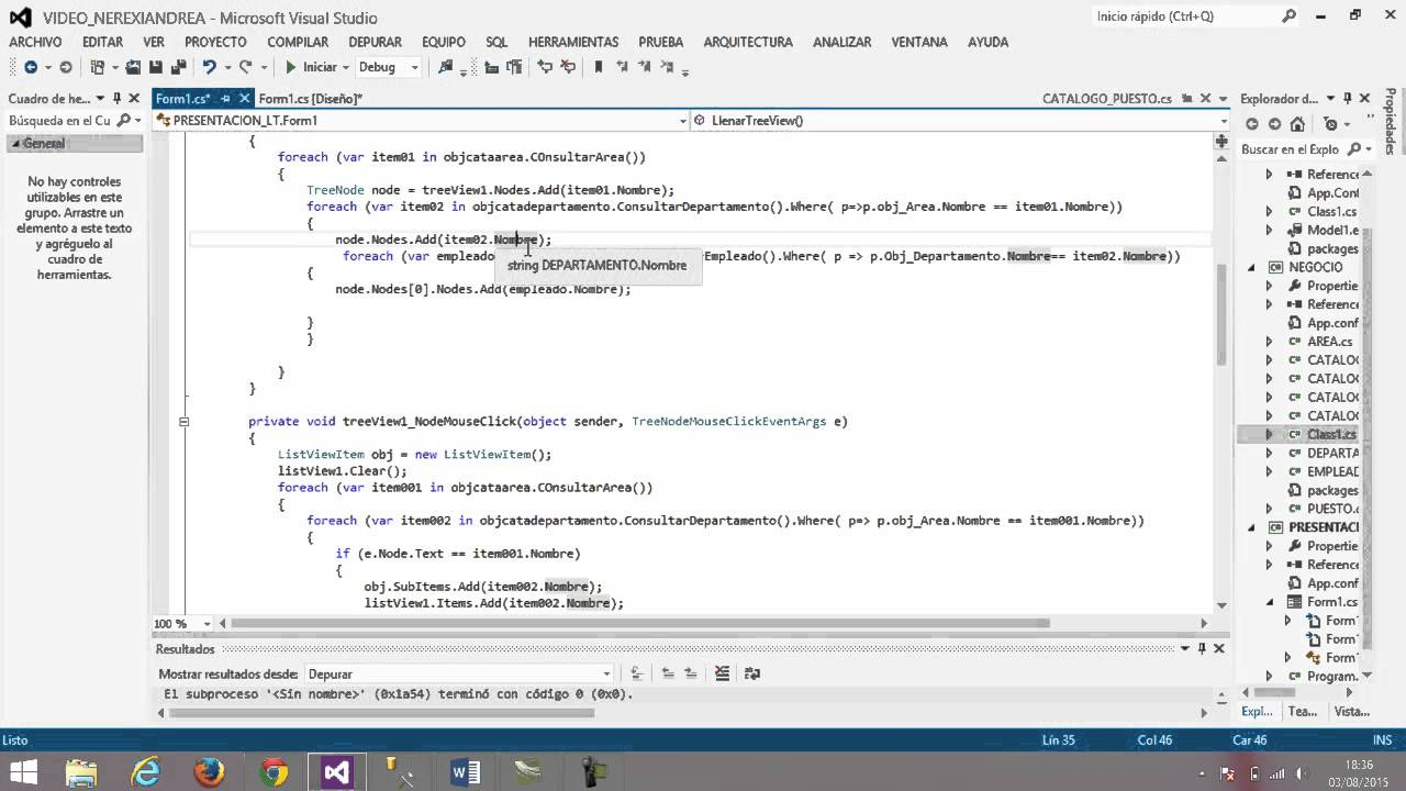 Aplicacion en win32 utlizando el treeview y listview