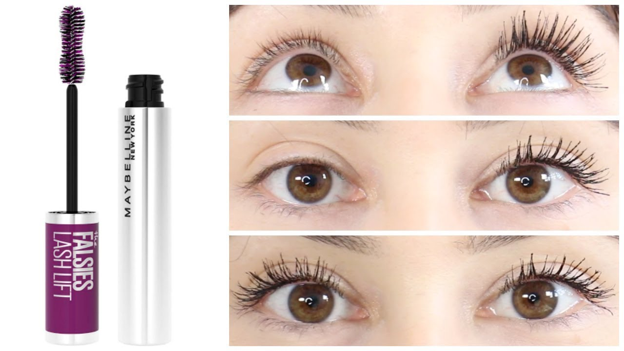 Maybelline The Falsies Lash Lift Mascara || New Drugstore Wear Test +  Review - YouTube