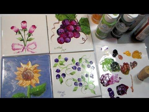 Painting Ceramic Tiles with Folk Art Enamels