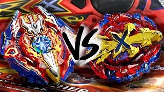 HIGH SPEED SWORD BATTLE: Sieg Xcalibur (Xcalius) .1.Ir VS Xeno Xcalibur .M.I - Beyblade Burst God!