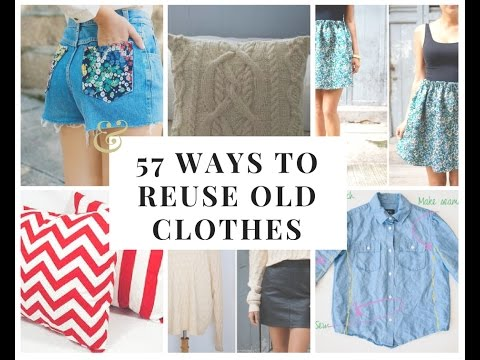 🛍💰🗑57 ways to reuse old clothes🛍🗑🗑