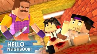 Minecraft: HELLO NEIGHBOR - O VIZINHO QUASE MATOU MEU PAI   EP 3