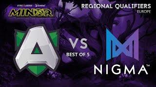 Nigma vs Alliance Game 5 (BO5) | Starladder Minor Season 3 EU Grand Finals