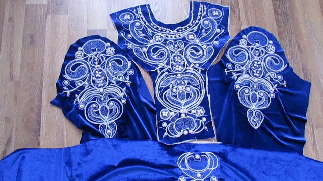 Вышивка бисером . Узоры на платье как у Ани Лорак embroideri.haute couture