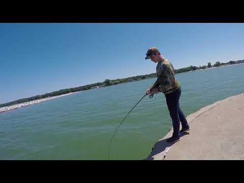 Fishing For Smallmouth In Port Austin, Michigan