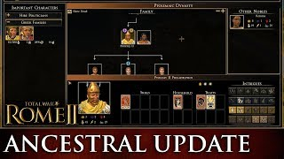 Total War: ROME 2 - Family Tree & Graphical Improvements