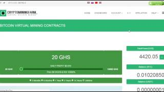 Заработок  Облачный майнинг CryptominingFarm +50 GHS для старта