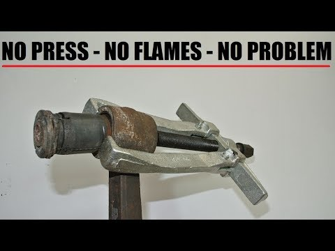 How to remove rubber bushings without a press or burning - suspension episode 5