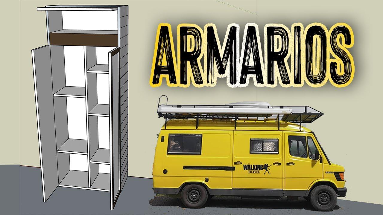 ARMARIOS, ¿Cuánto cabe en nuestra furgo? | CAMPERIZACIÓN #21 I Furgoneta MB 210D