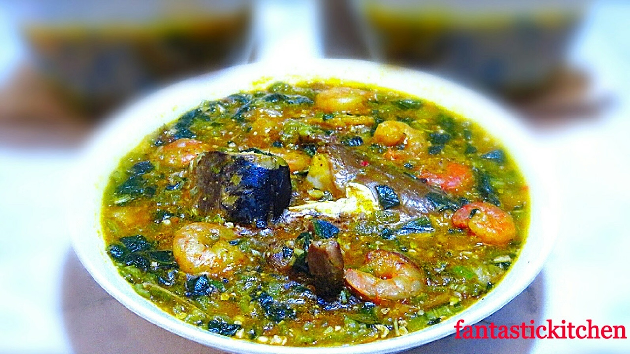 How to make Okro with Ogbono soup | Nigerian way. - YouTube