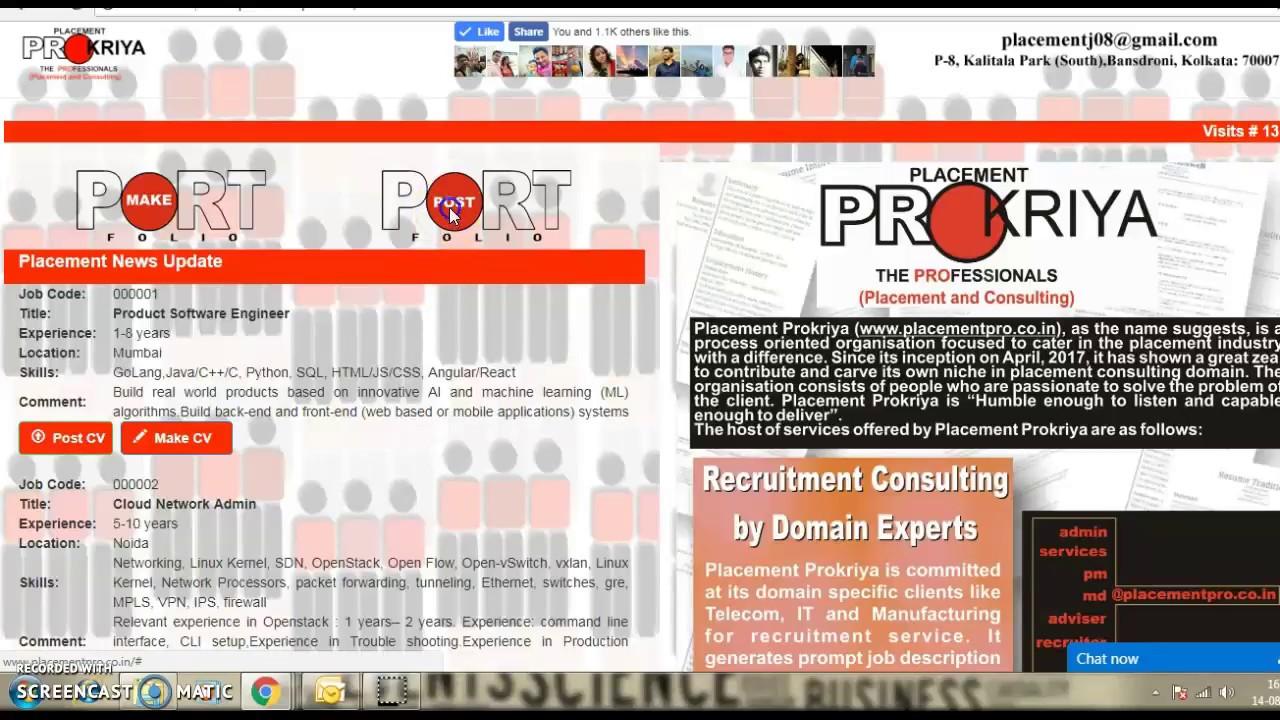 How to upload resume (CV) - YouTube