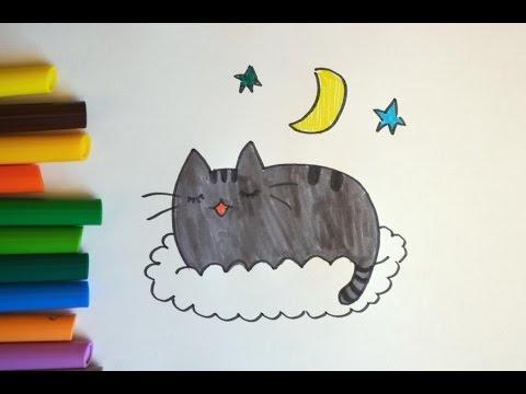 Как нарисовать Кот Пушин (Pusheen the cat) - простые рисунки. How to draw a cat Pusheen