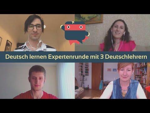 Deutsch lernen: 3 Deutschlehrer beantworten in der Expertenrunde Eure Fragen