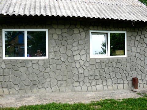 декоративная штукатурка - резные камни