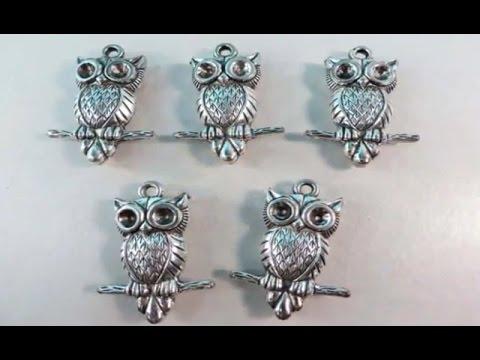 scarf charm pendants owl DIY scarf necklace WholesaleSarong.com