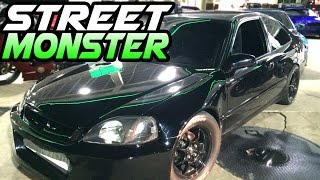 NASTY K20 Turbo Civic Battles the STREETS!
