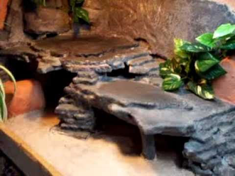 Make A Fake Rock Cave Basking Spot For Reptile Cage 10 S With Pictures