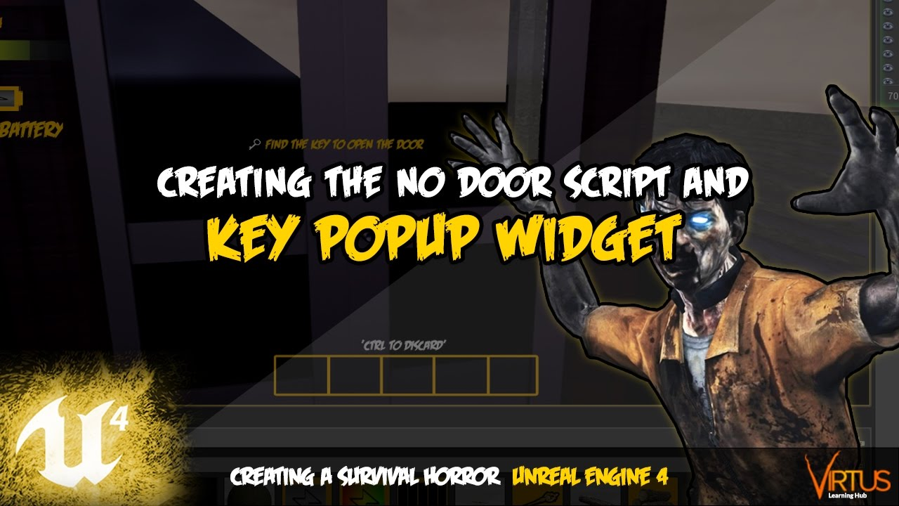 No Door Key Popup - #37 Creating A Survival Horror (Unreal Engine 4