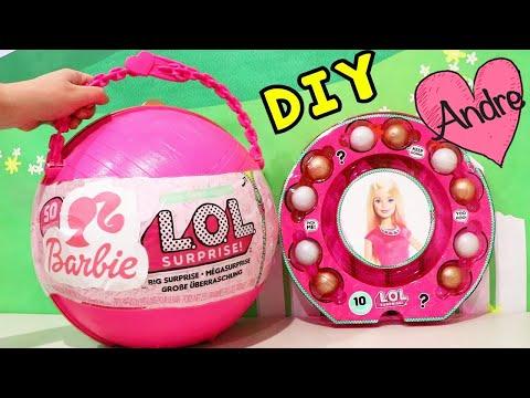 LOL Big Surprise de Barbie con sorpresas de muñecas l.o.l y Barbie - DIY por Juguetes con Andre