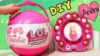 Lol Big Surprise Diy De Barbie Con Sorpresas De Muñecas L.o.l Y Barbie - Diy Por Juguetes Con Andre