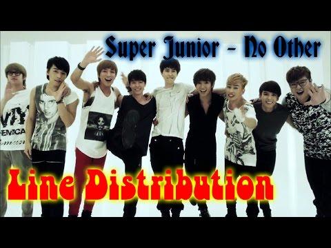 Super Junior - No Other Line Distribution (Color Coded