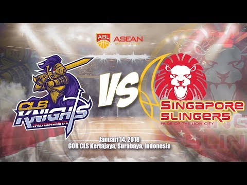 CLS Knights Indonesia VS Singapore Slingers  | ABL 2017 - 2018