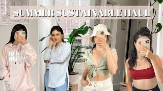 Summer Sustainable Try-on Haul 2021 ♻️