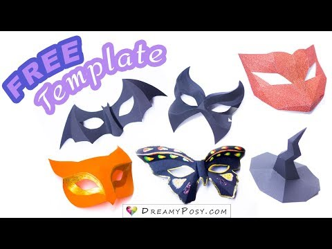 [FREE templates]: How to make 5-minutes-paper-masks, so easy