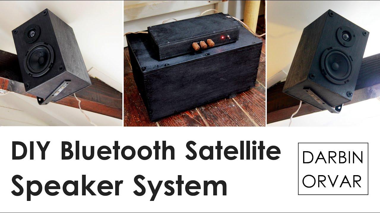 DIY Bluetooth Satellite Speaker System with Subwoofer
