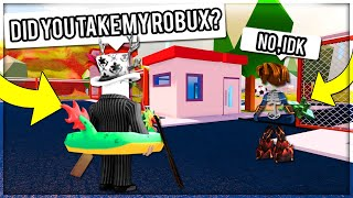 ROBLOX JAILBREAK - GIVING FANS 10,000 ROBUX IF THEY GUARD MY CASH! HONEST TEST (ROBLOX)
