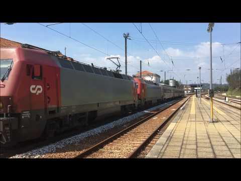 Múltipla de 5600 com InterCidades na Linha da Beira Alta - Santa Comba Dão - 2018