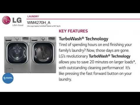 Lg 27 Turbo Wash Front Load Washer Wm4270hva At Www Liancesconnection