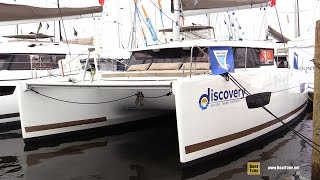 2017 Fountaine Pajot Lucia 40 Catamaran - Deck, Interior Walkaround - 2016 Annapolis Sailboat Show