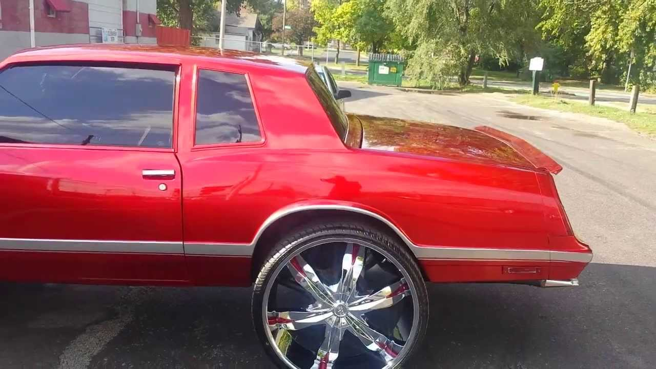 Chevy Monte Carlo >> 1988 Monte Carlo SS on 28s Kandy red - YouTube