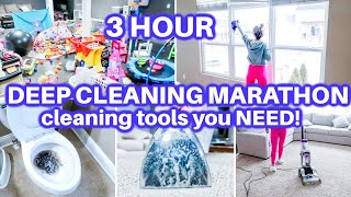 EXTREME CLEAN WITH ME | HOURS OF DEEP SPEED CLEANING MOTIVATION | DEEP CLEANING ROUTINE | HOMEMAKING