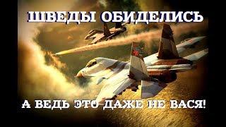 ШВЕДЫ ОСКОРБИЛИСЬ ☆ ОПЯТЬ РУССКИЕ: Им бы вспомнить как Вася НАТО в небе пошугал