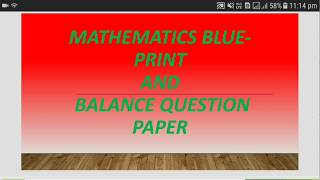 Best Mathematics blue-Print and Question Paper [English] for NIOS DELED