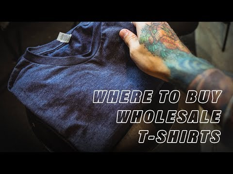 Where And How I Buy WHOLESALE SHIRTS  For My CLOTHING BRAND